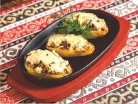 Картофель запеченый с грибами и сыром
